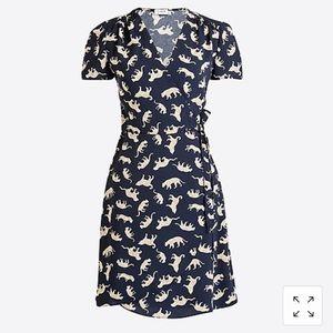 Jaguar print wrap dress